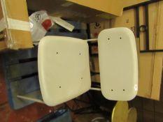   1 X   DESIGNER DINING CHAIR   NO MAJOR DAMAGE   RRP CIRCA -  