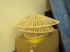   1X   MADE.COM WEAVER ARC LAMP SHADE   BOXED  