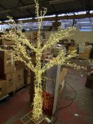LED Tree of Lights, 2.1M with 1600 LED Lights boxed (has been used but lights work) see image