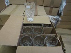 12 x Apina Crystaline 320ML Glass Tumblers, New & Boxed