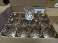 12 x Apina Crystaline 300ML Glass Tumblers, New & Boxed