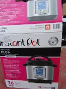 Instant Pot Duo Evo Plus, powers on but not tested all functions and boxed.