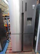 Haier HTF-556DP6 American Fridge Freezer, has a damaged plug so unable to check RRP £669