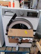 Smeg WHT1114LUK1 washing machine, powers on but not tested any functions due to smashed glass.