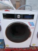 Sharp ES-GDD914W0 9/6Kg washer dryer, powers on and spins but not tested heat.
