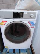 Sharp 9/6kg washer dryer, powers on ands spins but heat and other functions untested.