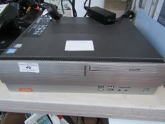 Lenovo HDD 1T, RAM 8G, Windows 10 Home compiter tower, no power but we have not tested it to a