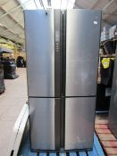 Sharp SJ-EX820FSL American Fridge Freezer, powers on and the fridge and freezer are both working but