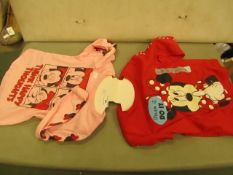 2X Girls Pyjama Tops Aged 3T New