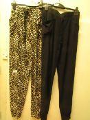2 X Pairs of French Dressing Ladies Lounge Pants Size M New