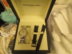 Raymond Weil Ladies Watch 1600 STS 00618 RRP £1,950 @ Alderley Watches This simple and elegant shine