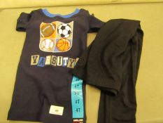 2 X Childrens Items Being PJ Top Aged 4T & 1 Pair of Leggings Size Sml