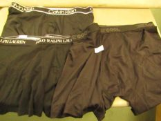 3 Pairs of Boxer Shorts Being,Ralph Lauren X/L,Calvin Klien L & 32 Degrees Cool X/L( All Are New But