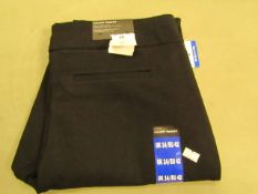 Hilary Radley Ladies Pants ( Sits on The Hips Cigarette Leg ) Black Size 14 New With Tags