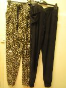 2 X Pairs of French Dressing Ladies Lounge Pants Size L New