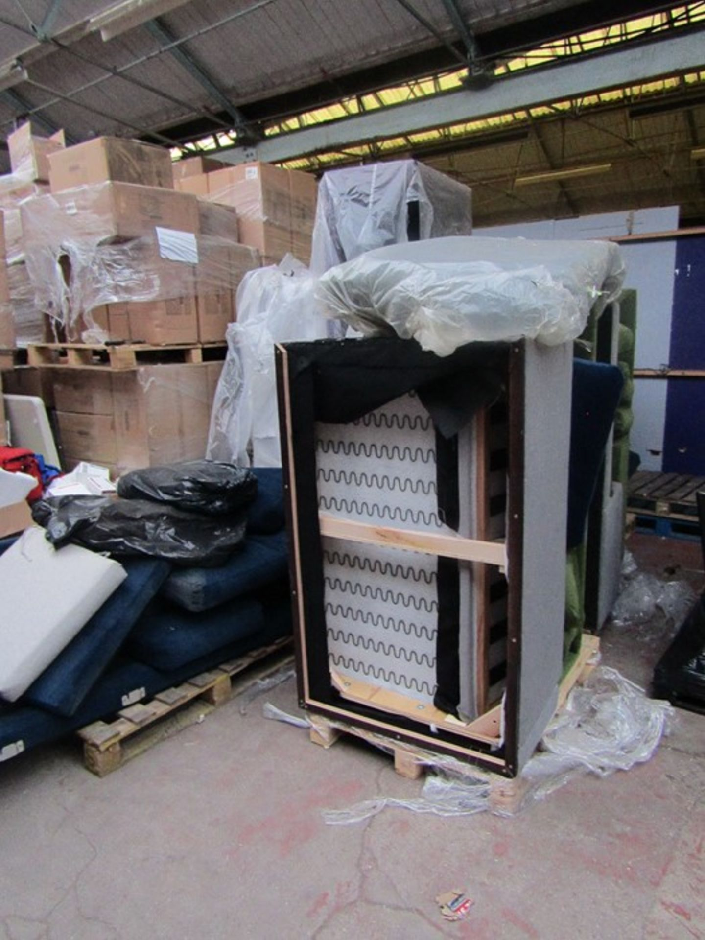 | 7x | PALLETS OF SWOON SOFA PARTS AND MISSING CUSHIONS SOFAS, PLEASE NOTE THESE ARE ALL