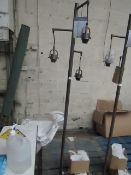 Style Craft - Basia 3-Light Floor Lamp Dark Brushed Steel Finish - Good Condition & Unpackaged.