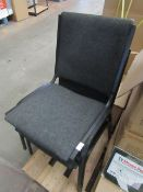 2x Black Steel Chairs - Used Condition.