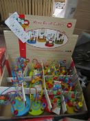 Abgee - Wire Bead Cubes Activity Toys (18m +) - Unused.