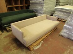 | 1X | SWOON 3 SEATER SOFA | HAS SOME DIRTY MARKS AND IS MISSING THE BACK CUSHIONS AND FEET | RRP