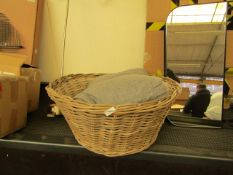 | 1X | WOVEN FUNNEL STYLE BASKET WITH A NON ORIGINAL CUSHION | THE 2 DON'T MATCH |