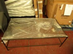 | 1X | COX AND COX GALLERY GLASS COFFEE TABLE | UNCHECKED BUT THE GLASS APPEARS TO BE UNDAMGED | RRP
