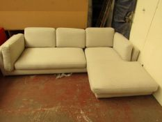 | 1X | SWOON 3 SEATER L SHAPED SOFA (looks very similar to the Munich) | HAS A COUPLE OF SMALL DIRTY