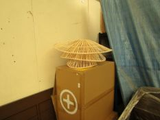 | 1X | MADE.COM WEAVER ARC LAMP SHADE | BOXED |