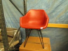 | 1X | MADE.COM HEKTOR SWIVEL TUB OFFICE CHAIR | UNCHECKED AND BOXED | RRP £199 |