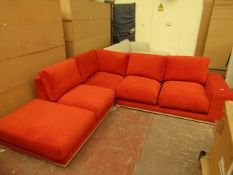 | 1X | SWOON 5 SEATER L SHAPED SOFA | HAS A COUPLE OF SMALL DIRTY MARKS, NO FEET AND IS RIPPED ON