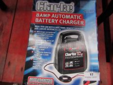 1x Clarke 8AMP Automatic Battery Charger, This lot is a Machine Mart product which is raw and