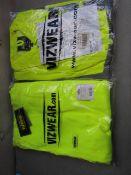 VIZWEAR SET - 1x Vizwear - Polycotton Jacket Hi-Vis Yellow - Size XL - Unused & Packaged. 1x Vizwear