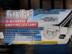 1x Clarke - Desk Mounted Magnifying LED Lamp - Unchecked & Boxed, This lot is a Machine Mart product