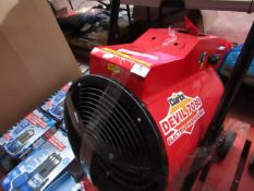1x Clarke Devil 7030 Electric Fan Heater, This lot is a Machine Mart product which is raw and