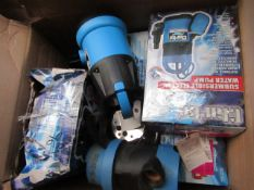 7x Various Water Pumps From Clarke, This lot is a Machine Mart product which is raw and completely