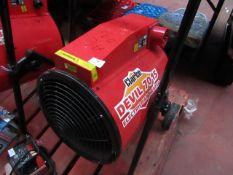 1x Clarke Devil 7015 Electric Fan Heater, This lot is a Machine Mart product which is raw and