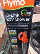 Flymo - C-Link 20V Blower - Lightweight & Compact (Battery Powered) - Unchecked & Boxed. This lot is