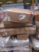   1X   PALLET OF HOM COM RAW CUSTOMER RETURNS PARTS, MOST WILL OR ARE INCOMPLETE I.E PACK 1 OF 2 BUT