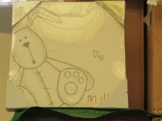 4x Millie - Hand painted canvas art - New & Boxed