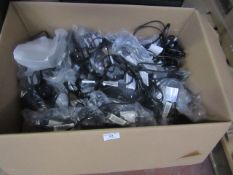Box of approx 50 figure of 8 power cables