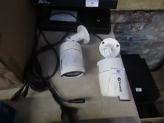2x Swann bullet cameras, unchecked and in used condition.