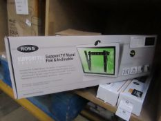 """Ross flex and inclinable 32 - 70"""" TV wall mount, new and boxed."""