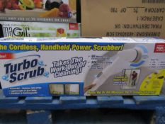 | TURBO SCRUB LITE CORDLESS HAND HELD POWER SCRUBBER | UNCHECKED AND BOXED | SKU C5060191467476 |