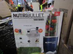 | 6X | NUTRI BULLET 1000 SERIES | UNCHECKED AND BOXED | NO ONLINE RE SALE | SKU C5060191464734 | RRP