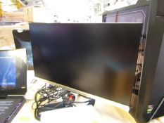 ASUS 23.8 FHD MONITOR, comes with box and stand, unable to check as the power input socket is