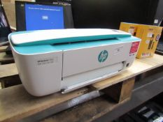 HP Deskjet 3762 print,scan,copy, web compact printer, powers on but not checked any further, no box