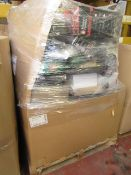 | 1x | PALLET OF OF ITEMS MARKED UP AS 'OLD SPARES' WHICH LOOK TO HAVE SPARE PARTS AND ACCESSORIES