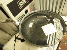 The Rock - Wok With Glass Lid 32cm Approx - Used Condition.