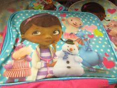 24x Disney Junior - Doc Mcstuffins Fabric Lunch Box RRP £5.49 each- New & Packaged.