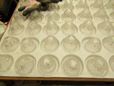 20x Clear Glass Candle Holder (Taper Candle) - All Unused.